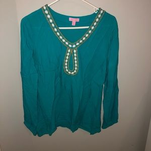 Turquoise Lilly Pulitzer Top